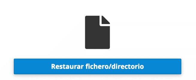 opcion 4 restaurar fichero o directorio
