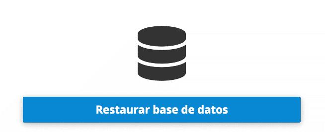 opcion 5 restauración base de datos