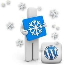 Efecto caída de nieve en WordPress
