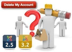 ¿Como doy de baja mi cuenta de Usuario en Joomla? – Derecho al olvido