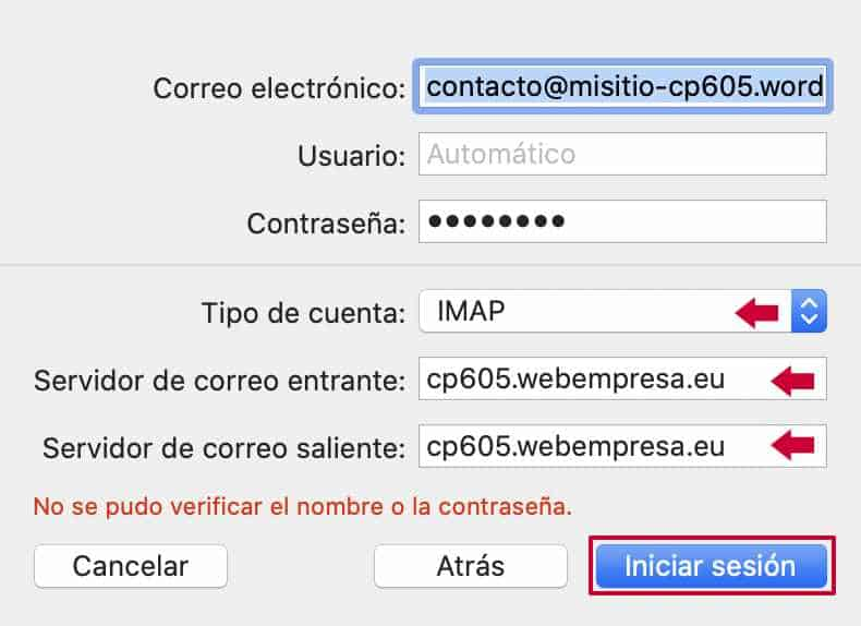 configuracion manual datos adicionales
