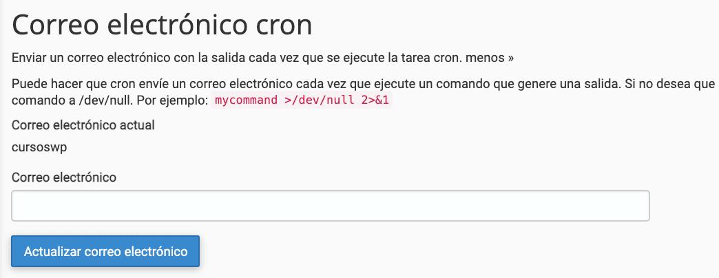 correo suscripción cron