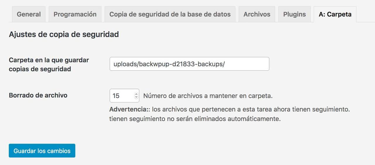 Configuración  BWP