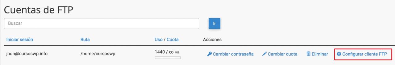 Enlace configuracion cliente FtP