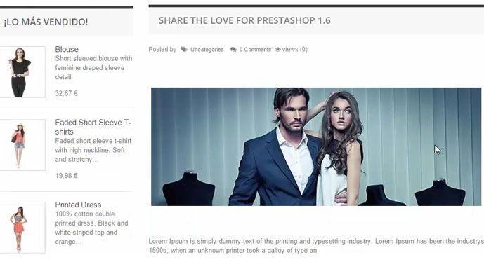 Blog en PrestaShop