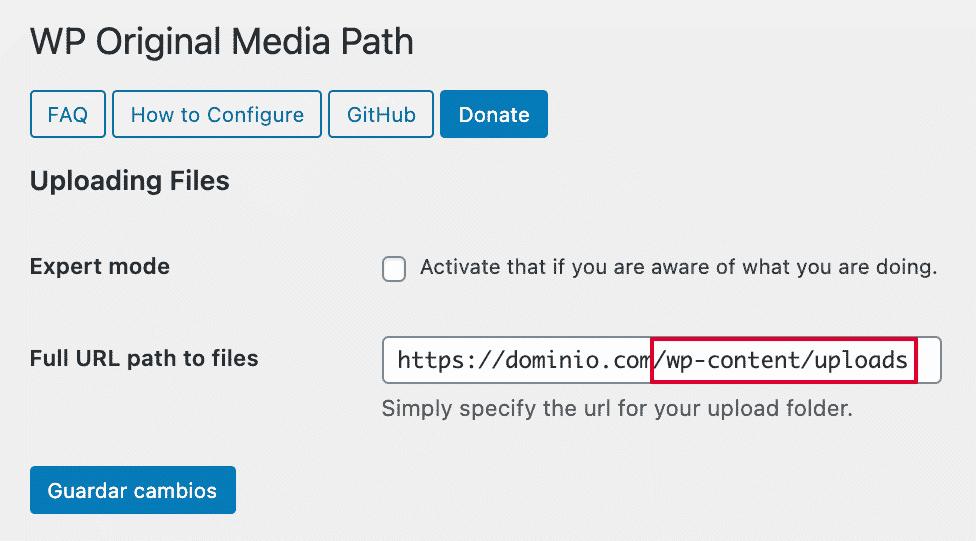 Plugin corrección ruta