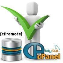 Restaurar una base de datos con cPremote Backup Management en cPanel