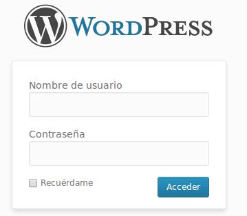 acceder administracion wordpress