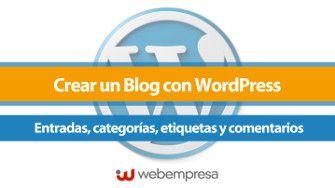 Entradas, categorías, etiquetas word press