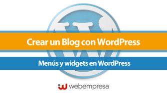 Menús y widgets en WordPress