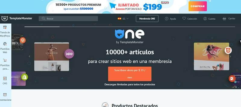 Plantillas Templatemonster para WordPress