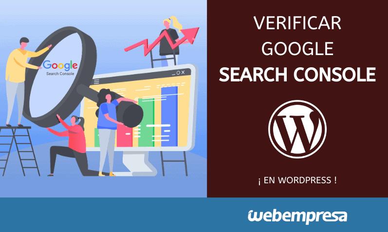 Verificar Search Console en WordPress