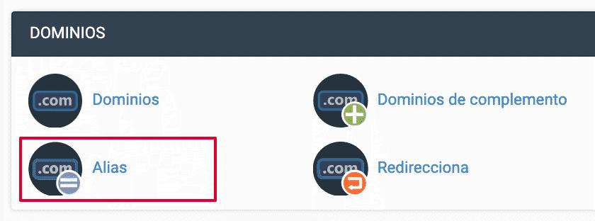 alias dominio cpanel