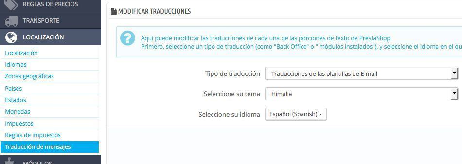 Traducir correo