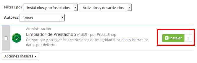 Borrar PrestaShop