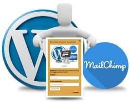 Muestra el formulario de suscripción de MailChimp ¡llama a la acción!