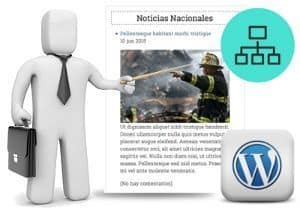 Noticias verticales en WordPress