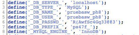 Datos base de datos en PrestaShop