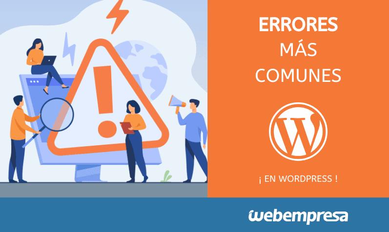 10 errores comunes al empezar con WordPress