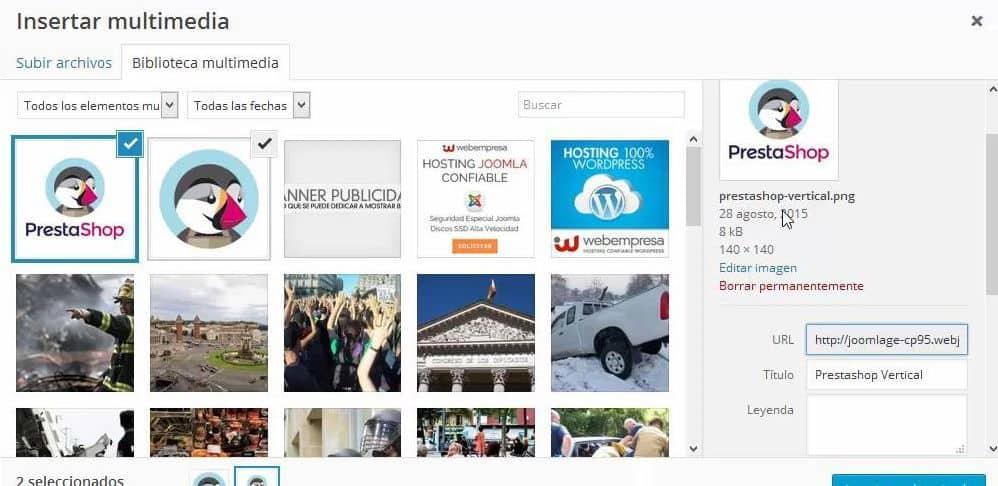Titulo de imagen en WordPress