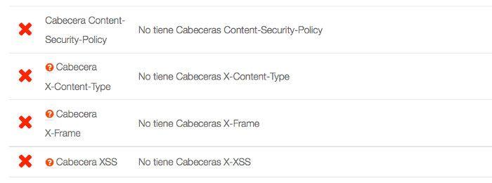 No tiene Cabeceras X-Content-Type