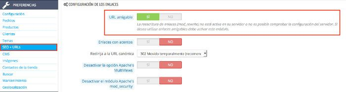 Activar URL amigable
