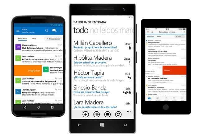 Microsoft Outlook disponible para plataformas Android e iOS