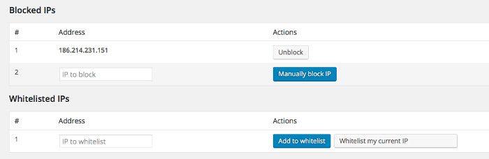 Control de Listas de IPs desde el plugin