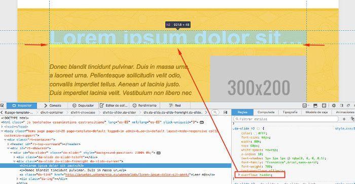 Error de CSS