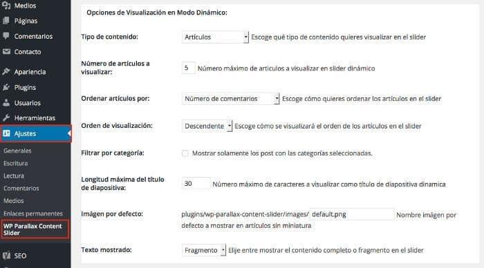 Opciones de Visualización en Modo Dinámico