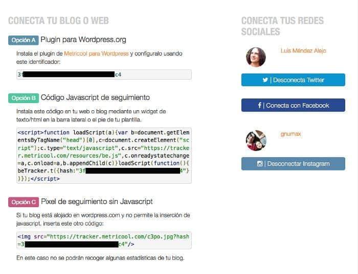 Conectar Redes Sociales