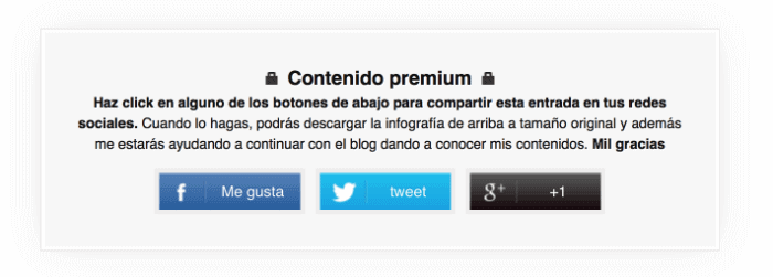 compartir contenido para desbloquear