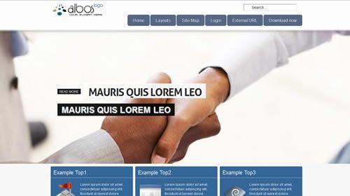 plantilla Joomla responsive Albos