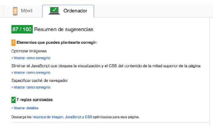 """""""mejorar la velocidad de carga de WordPress con Google Page Speed test"""