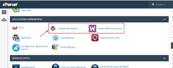 Crear un blog con WordPress: instalar web