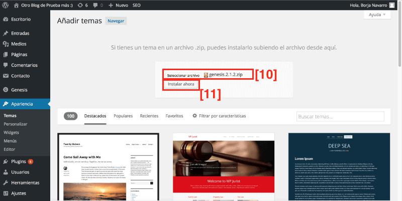 Cómo subir una plantilla a tu blog
