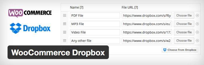 WooCommerce Dropbox