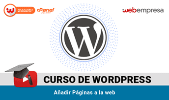 curso wordpress paginas