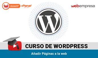 curso wordpress paginas