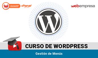 curso wordpress menus