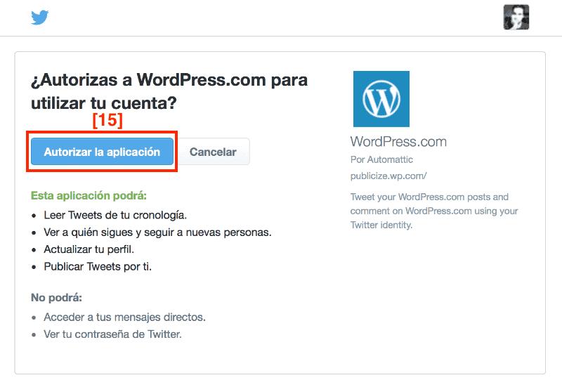 Autorizar WordPress con Twitter para compartir paso a paso