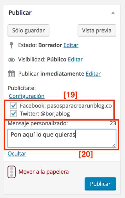 Conectar WordPress Twitter