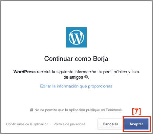 Tutorial para conectar WordPress con Facebook