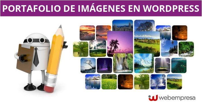 portafolio de imágenes en WordPress