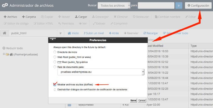 Preferencias del Administrador de Archivos en paper_lantern