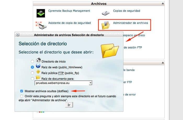 Preferencias del Administrador de Archivos en x3