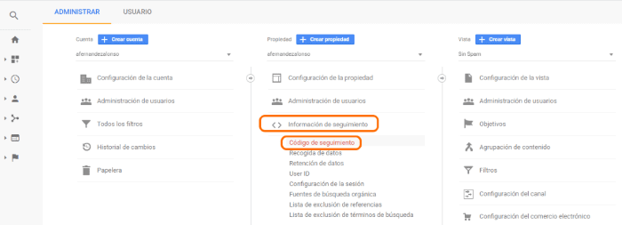 informes search console