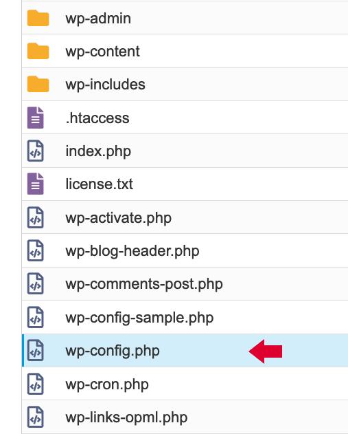 Localizadión archivo wp-config.php