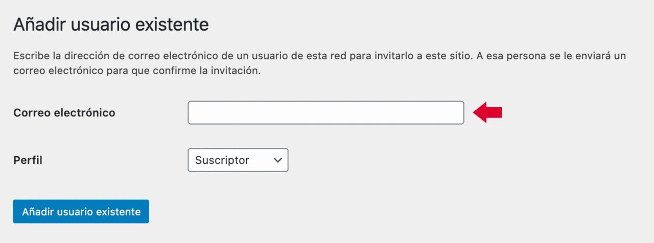 Asignación de un usuario a un sitio