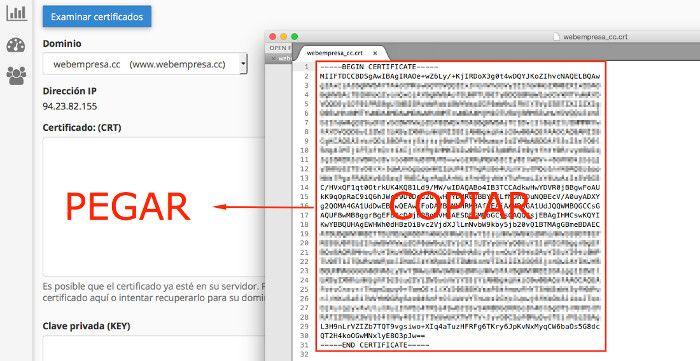Certificado SSL en cPanel